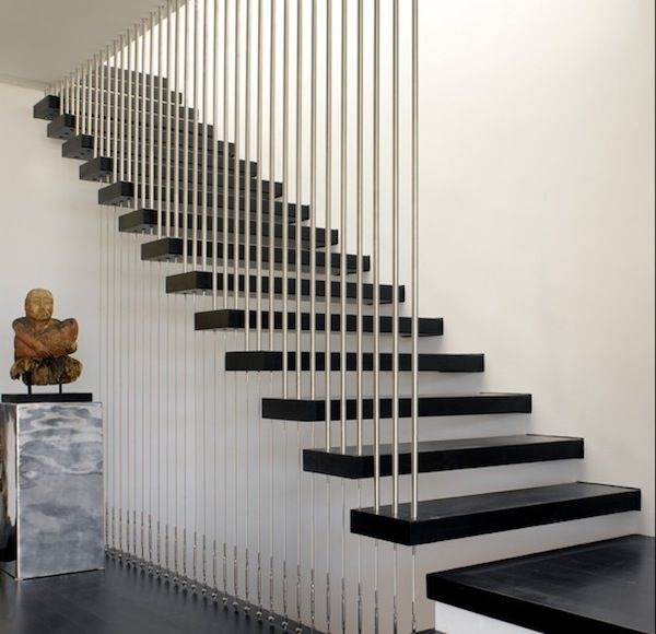 Stair Railing Designs For Home Interiors Modern Floating Stairs