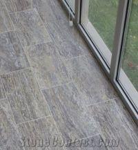 grey travertine floor tiles | Silver Travertine Vein Cut ...