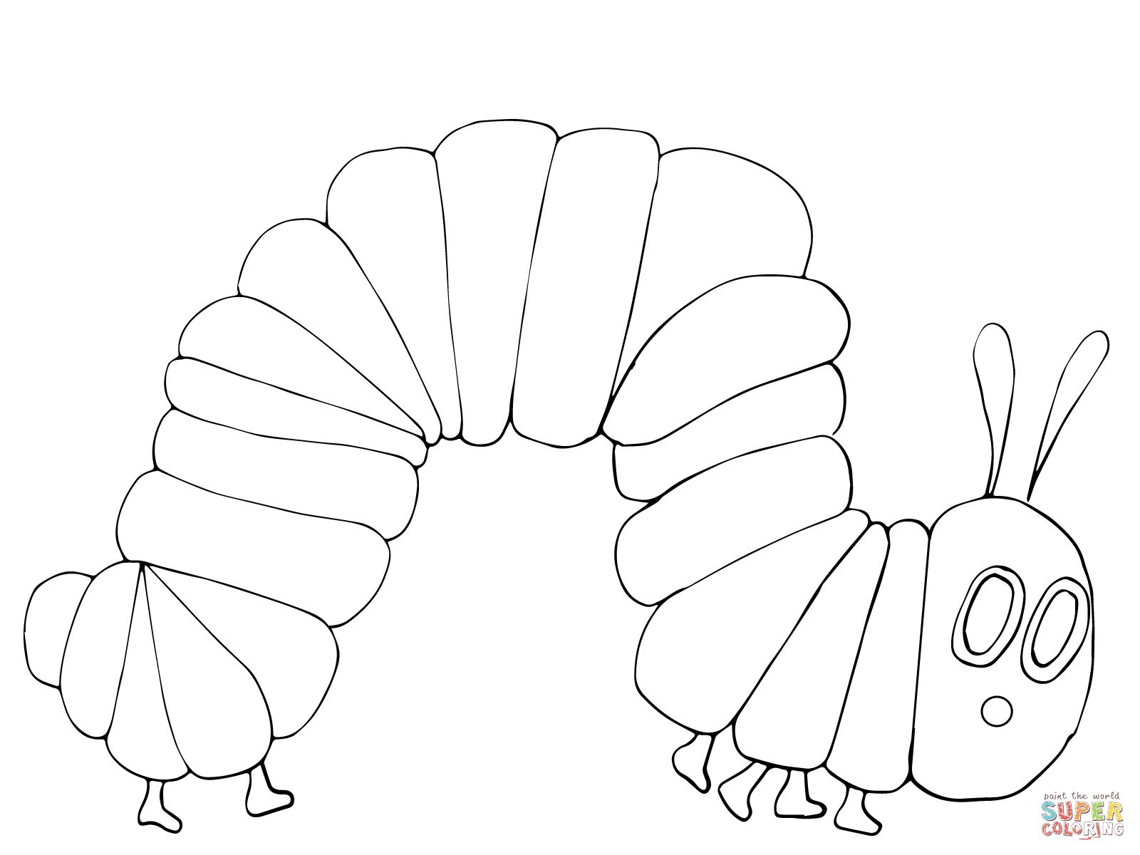 Very Hungry Caterpillar Coloring Page
