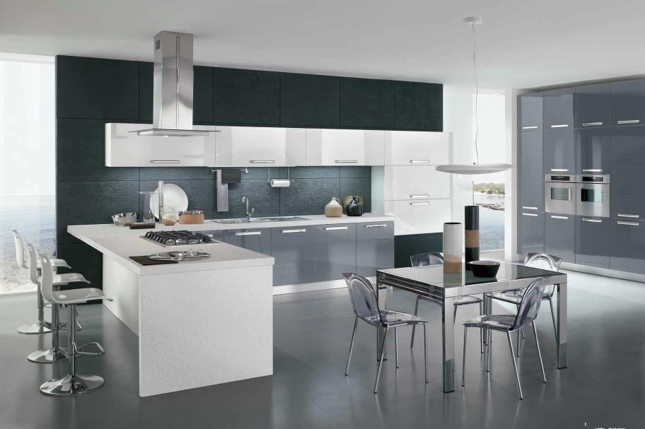 cucina moderna bianca e grigia  Cerca con Google  Home