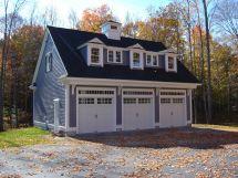 Detached 3 Car Garage with Apartment Plan