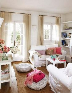 Decoration white color wall decor ideas living room summer decorating home leather sofa also cottage interior decorated in style rh pinterest