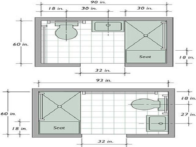X Bathroom Floor Plan - 5x7 bathroom floor plans