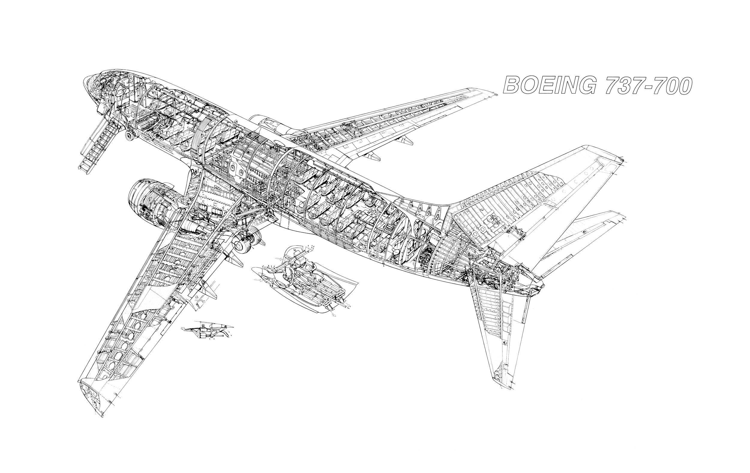 Boeing 737 700 Cutaway