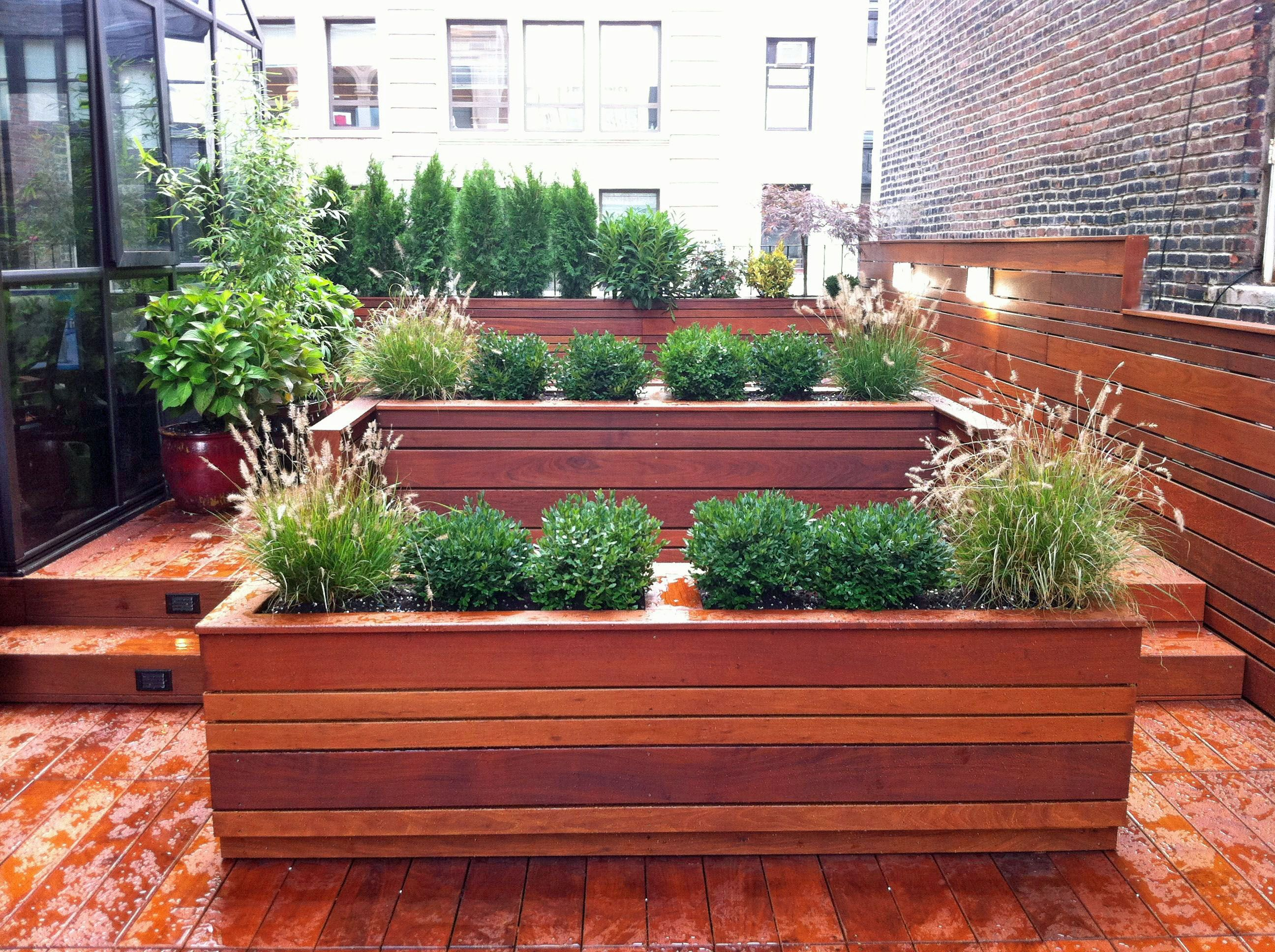 This NYC Custom Roof Garden Design Features Contemporary Looking