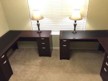 And Home Office. Two L-shaped Desk Office