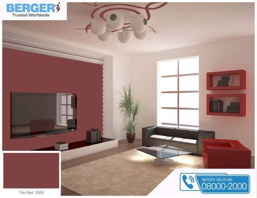 Tile Red Paint In Living Room Gives You Relaxation And Ease Berger Paints