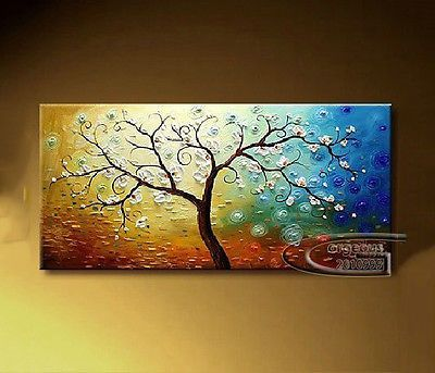 Framed modern abstract canvas art wall decor oil painting tree also rh pinterest