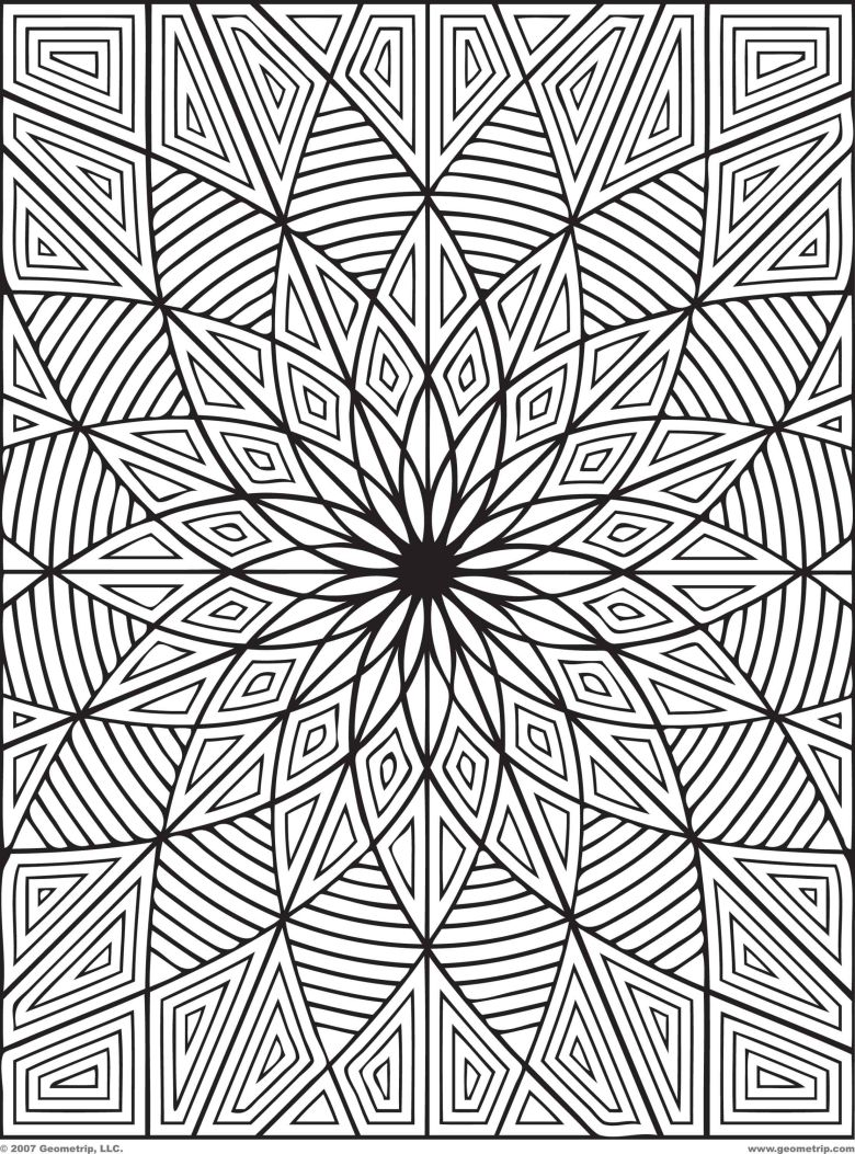 difficult geometric design coloring pages   rectangles: page 1 of