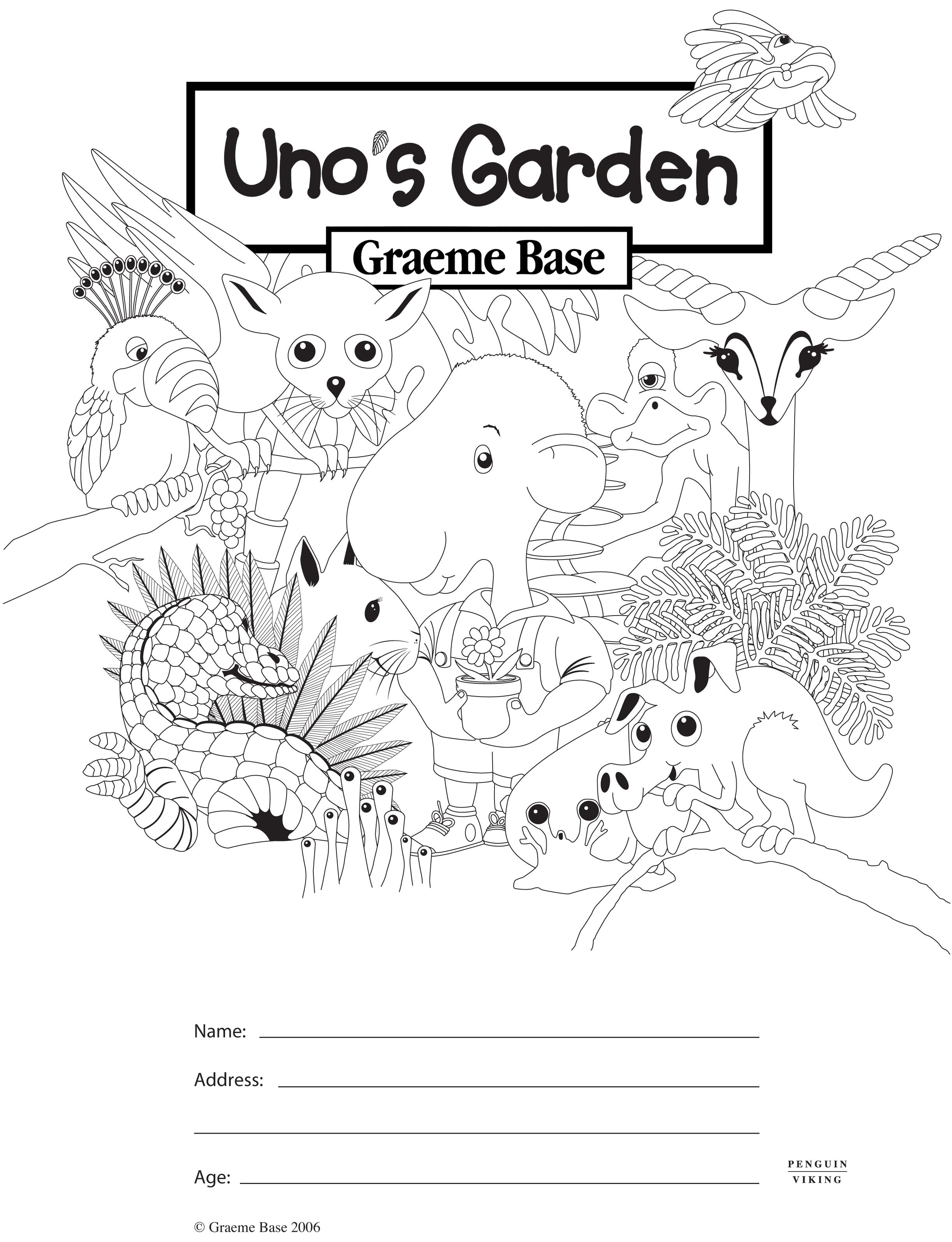 Uno's Garden Colouring In http://www.puffin.com.au/files