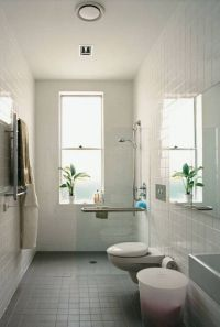 bathroom small narrow bathroom ideas tub shower popular ...