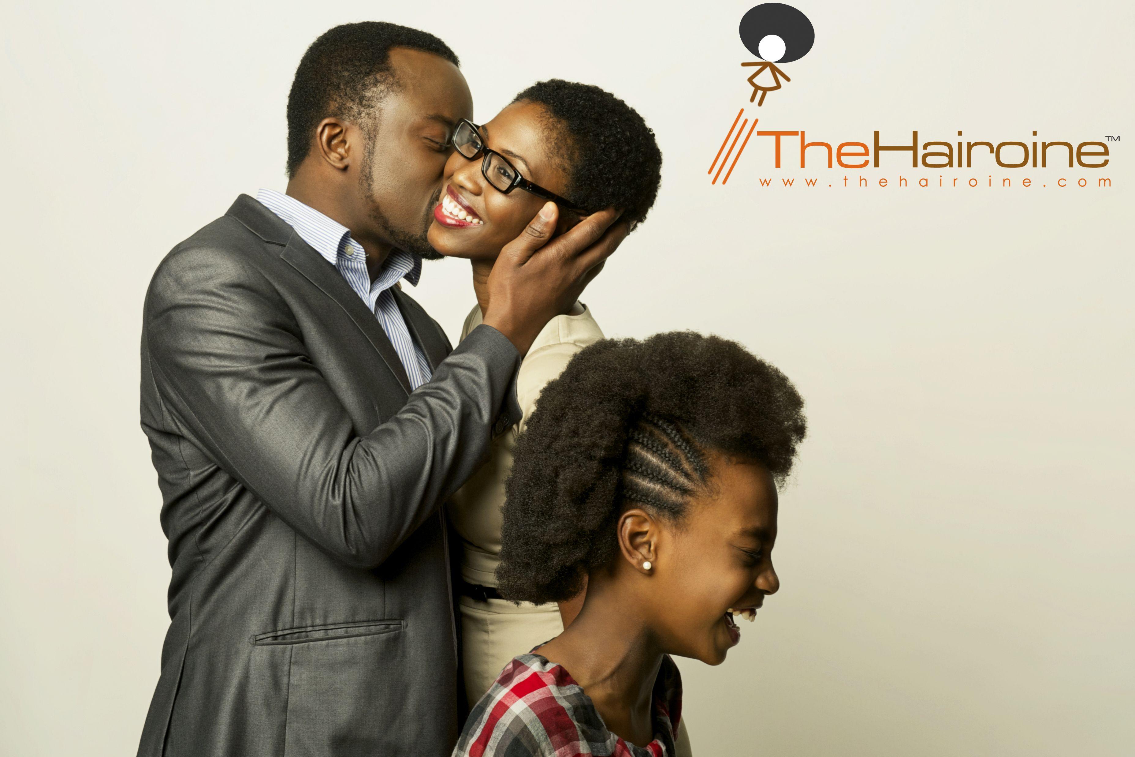 Black Family Love blacklove family naturalhair kids kiss