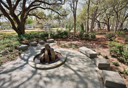 The Meditation Garden Features Bon Secours St Francis Hospital