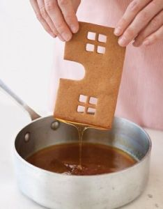 Gingerbread houses recipe pattern  the secret to sticking also rh pinterest