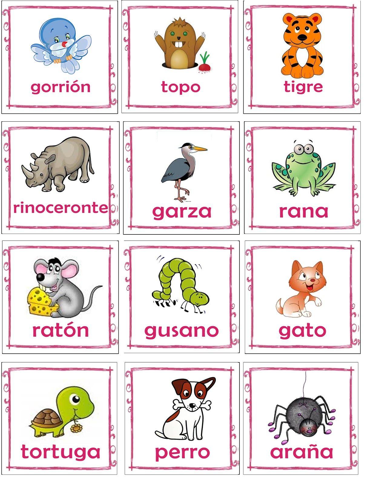 Educacion Preescolar Memorama De Animales