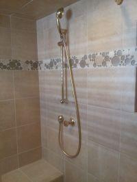 bubble glass tile | Marmol Crema Marfil Ceramic Tile with ...