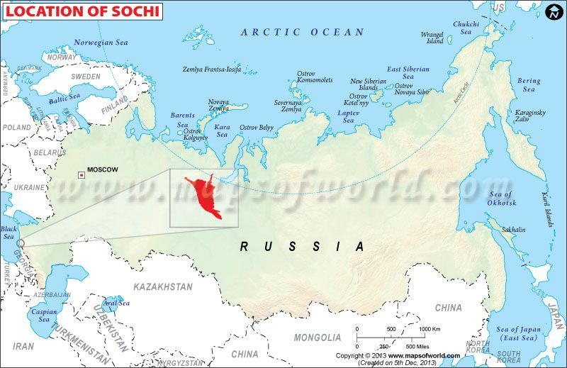 Russia Map And Moscow Sochi