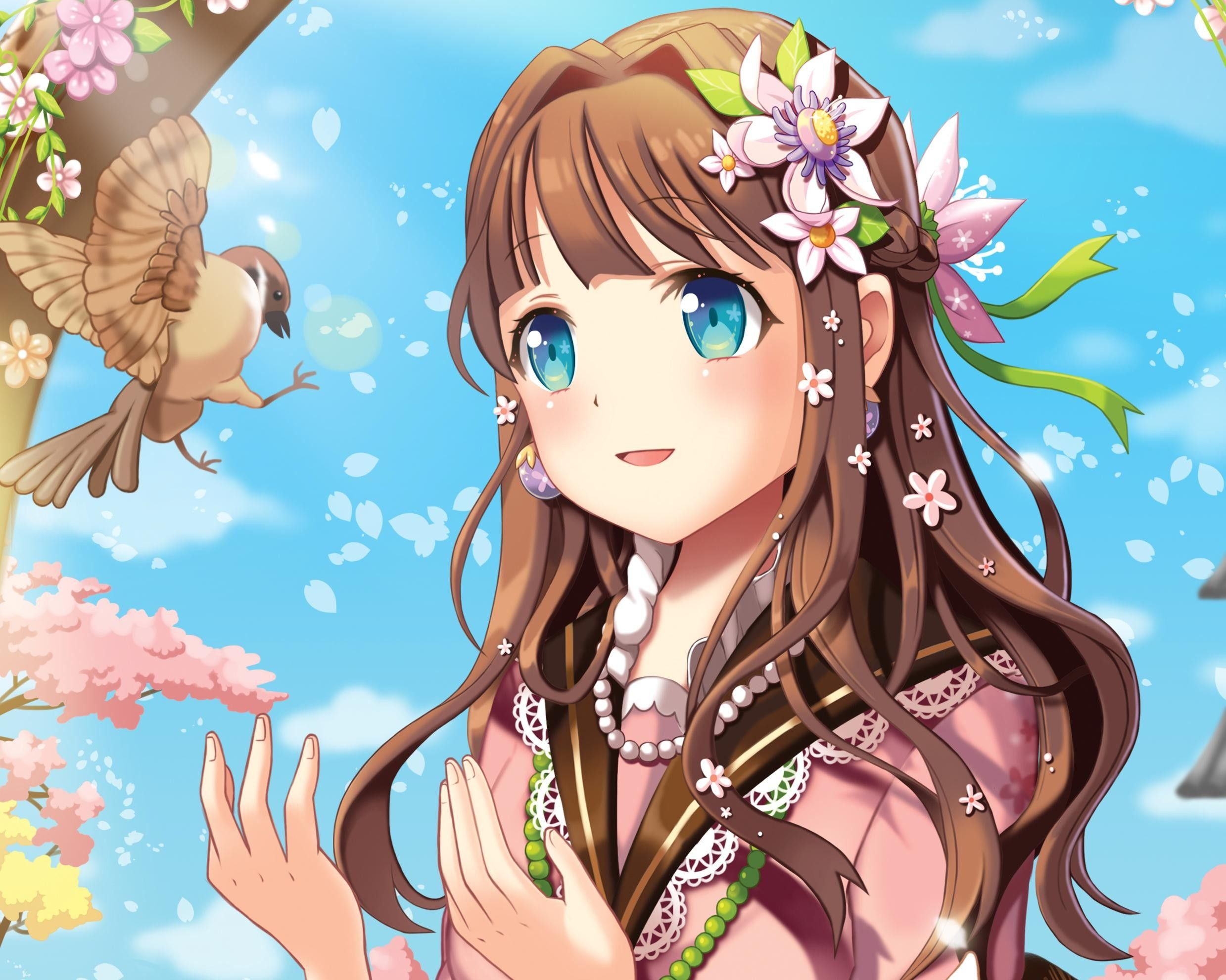 Fall Chipmunk Hd Wallpapers Anime Girl With Brown Hair Google Search Anime