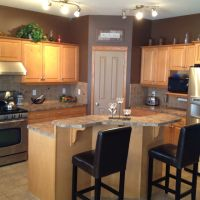 Maple kitchen cabinets and wall color - kitchen remodel ...