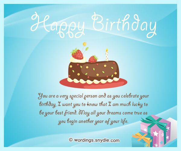 Best Friend Birthday Messages Happy Birthday Wishes For A