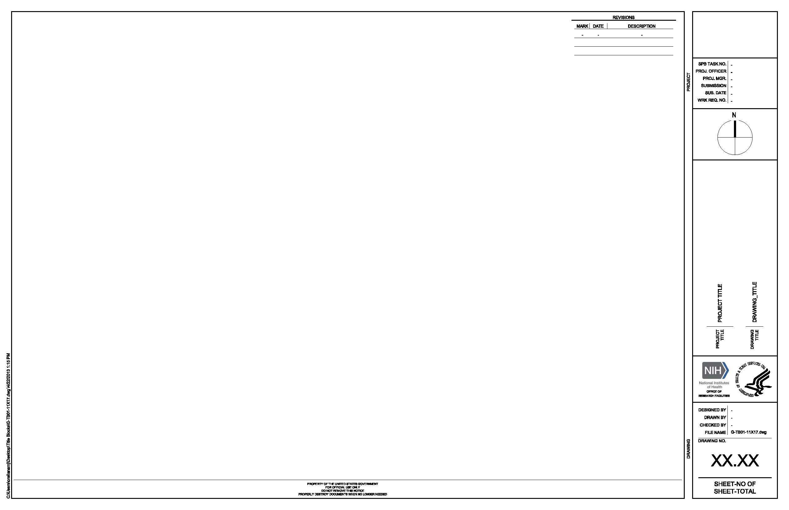 G Tb01 11x17 Dtr Title Block
