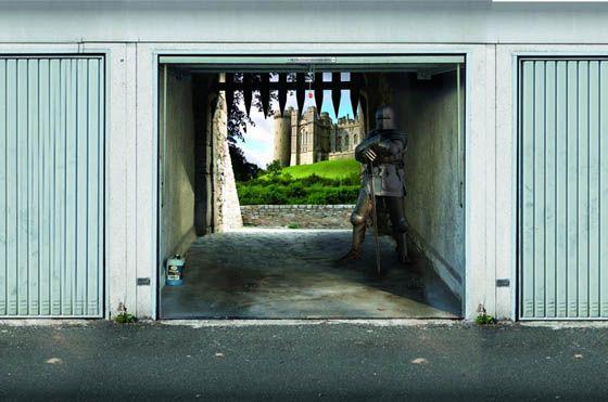 3D Garage Door Murals