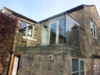 Frameless balcony balustrade design with toughened and ...