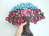 Wall decoration Tree of life wall hanging Modern red home ...
