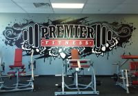 murals for gyms | Premier Fitness - Gym Mural | gym ...