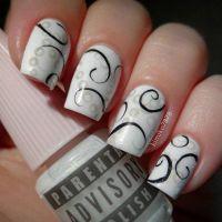 Cute And Creative Swirl Nail Art | Swirl nail art, Water ...