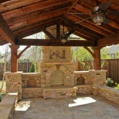 Outdoor Kitchen Pavilion Designs Drawers Rustic Gable Gazebo Cedar And Stone | Bbq Crib Pinterest ...