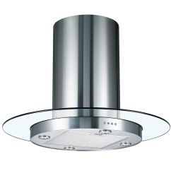 Extractor Fan Kitchen Trailer Cookology Tub900gl 90cm Round Glass And Stainless Steel