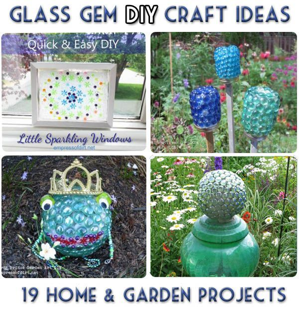Glass Gem Garden Art & Craft Ideas 19 Projects Gardens Glasses