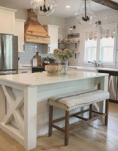 Awesome farmhouse kitchen design ideas also kitchens rh pinterest