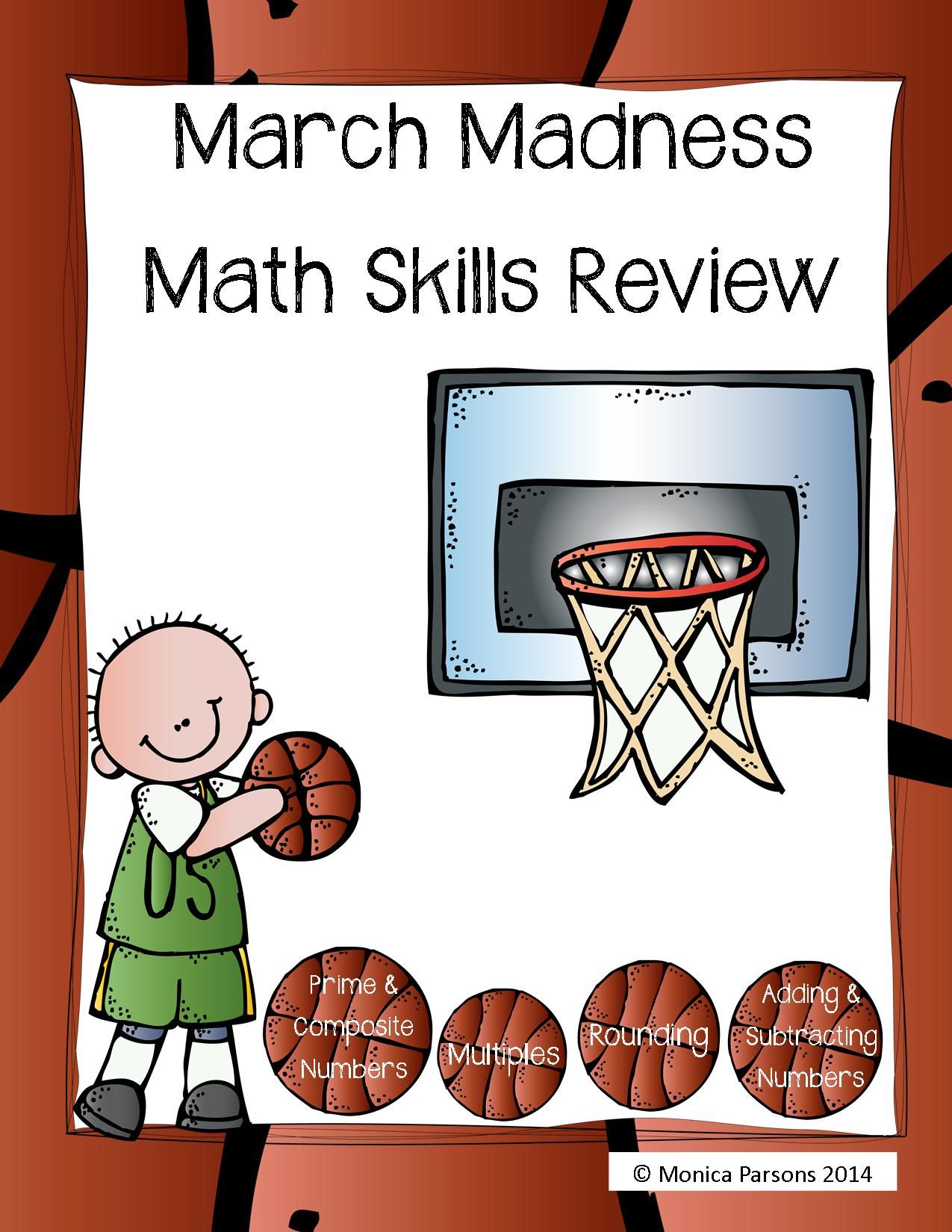 Math Madness Practice Sheets Basketball Themed