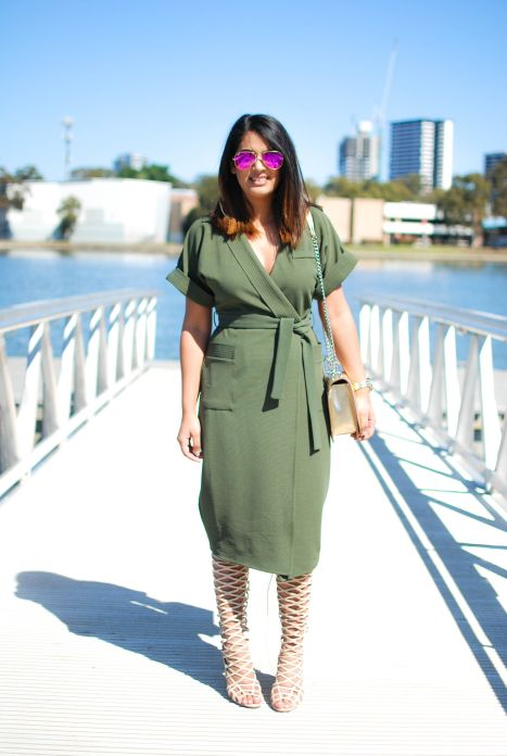 Image result for wrap dress outfit ideas