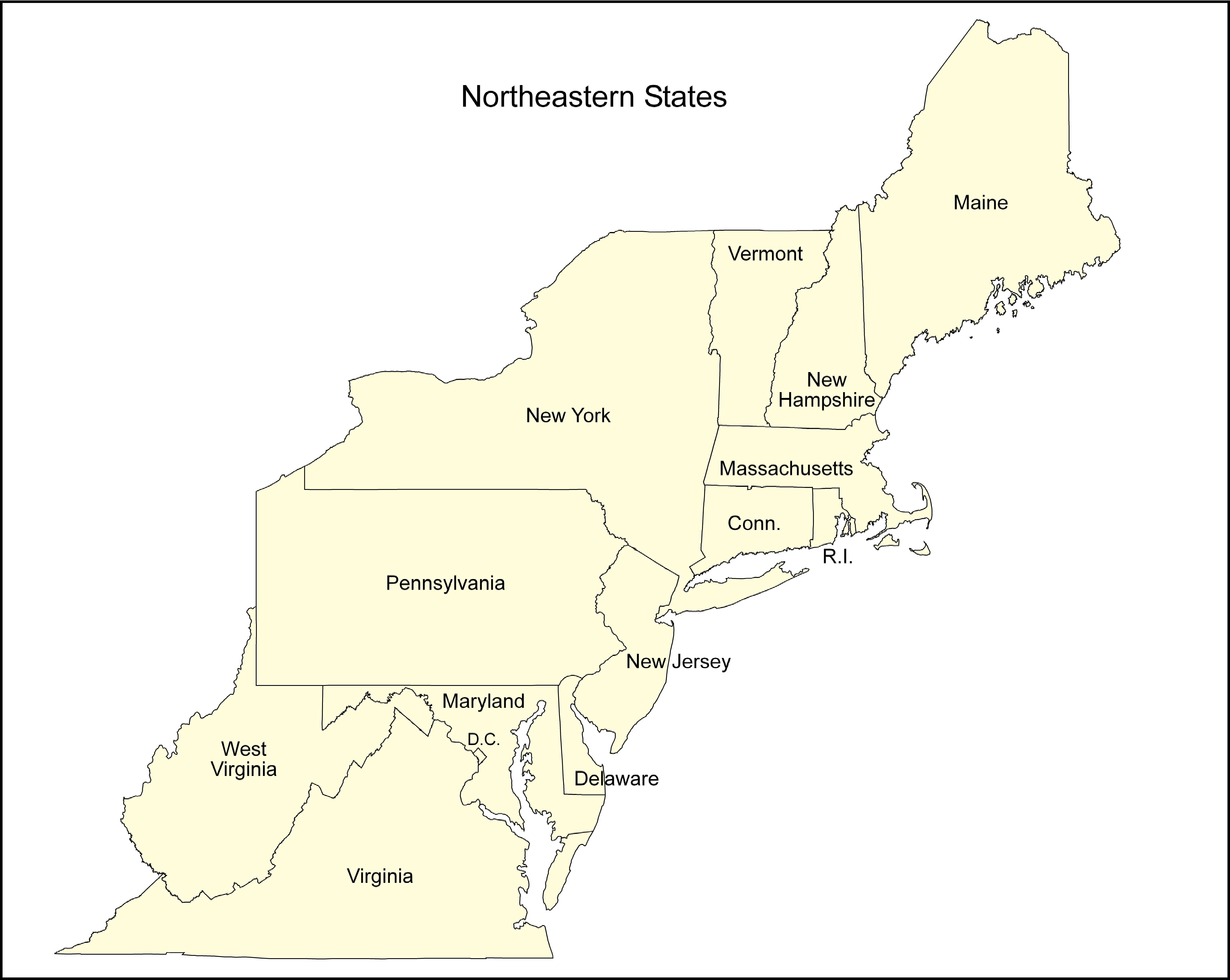 Ne States With State Names