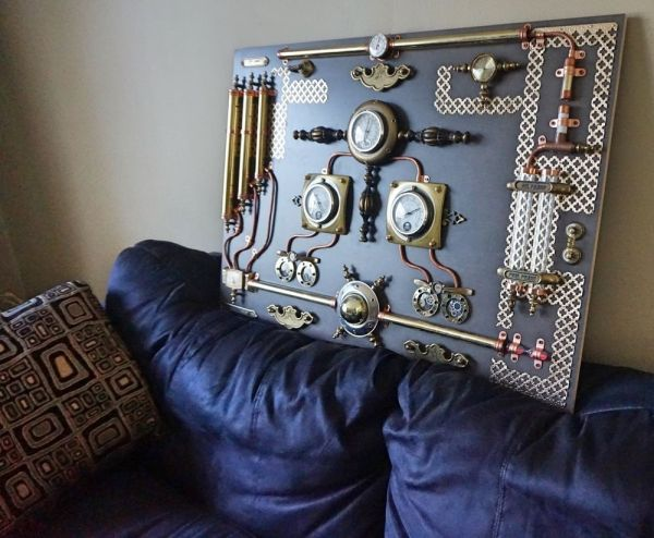 Modern Abstract Industrial Panel.steampunk