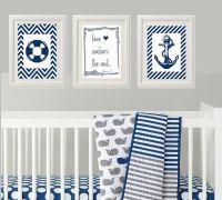 Nautical Baby Nursery / Nursery Wall Art / Wall Decor for