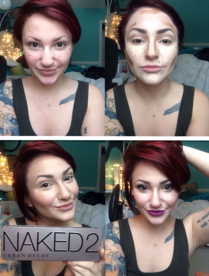 highlighting and contouring urban decay naked 2 pallet mac heroine
