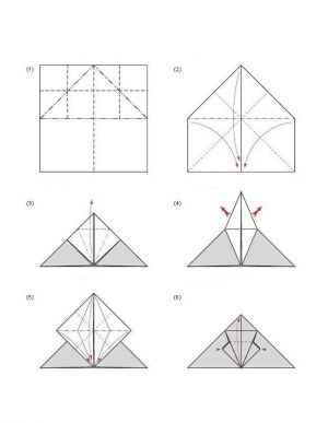 Bastelanleitung  Origami Fledermaus faltendekoking | ペーパークラフト | Pinterest | Fledermaus