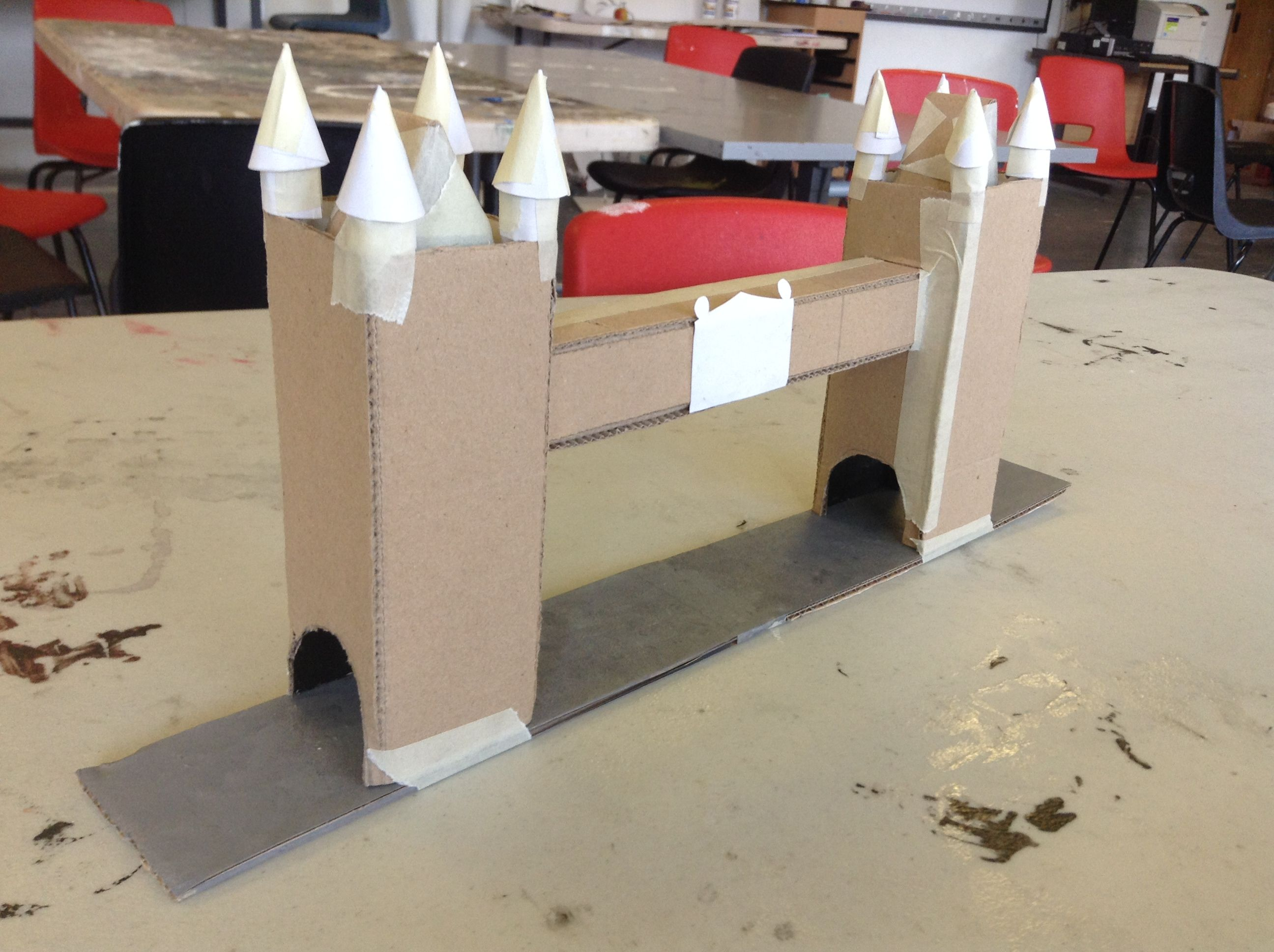 Cardboard Tower Bridge