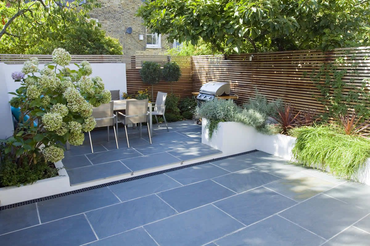 Slate Tiles For Patio Small Garden 20 Clapham Small Garden