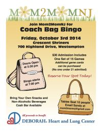 Join Mom2MomNJ for our Coach Bag Bingo Fundraiser! | Good ...