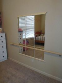 Ballet bar with mirrors that my husband put up in our ...