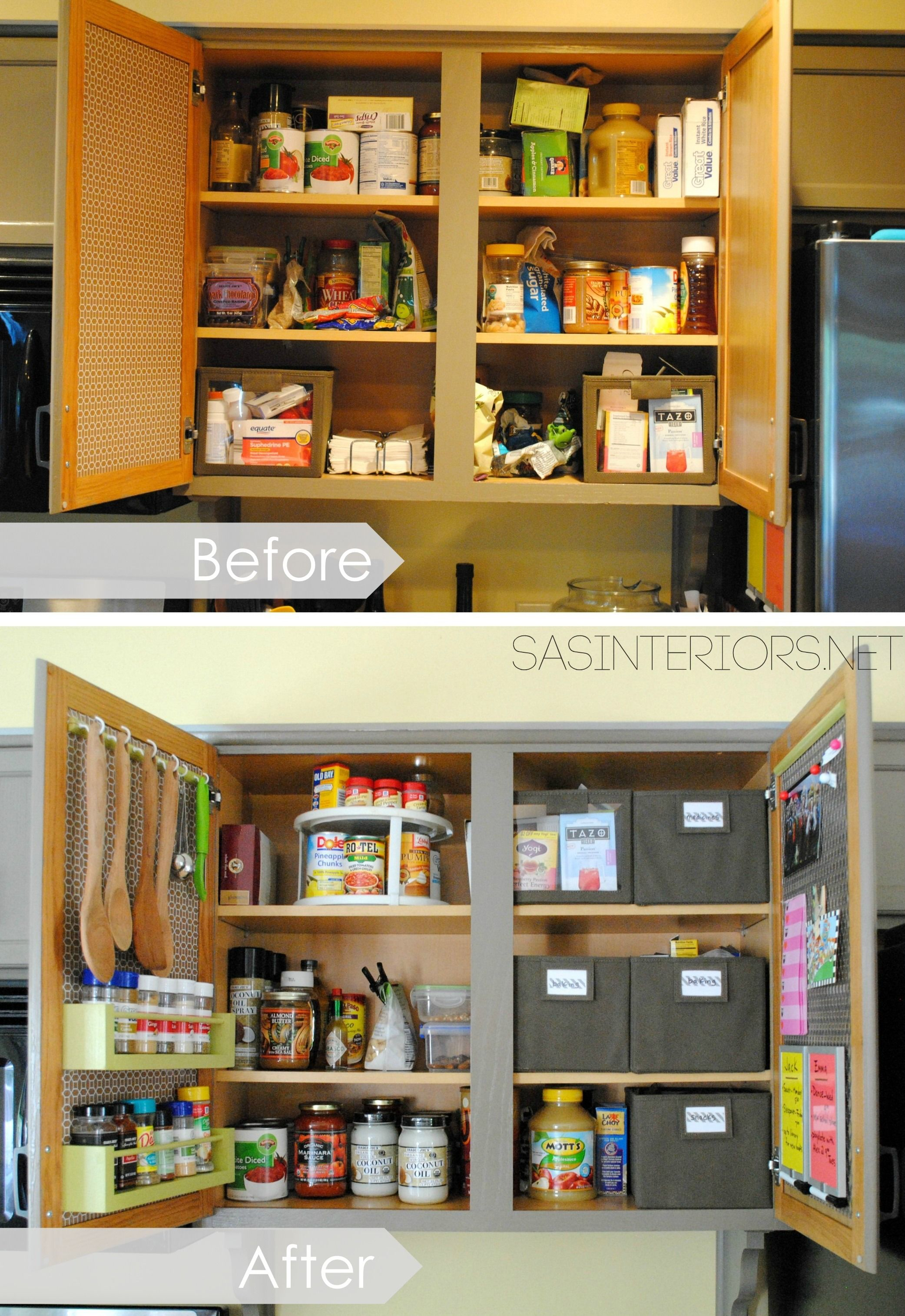 kitchen cabinet organization rooster rug try this 9 diy tips small kitchens