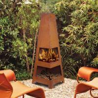 Sahara OUTDOOR Rust FIREPIT Chiminea Backyard Fireplace ...