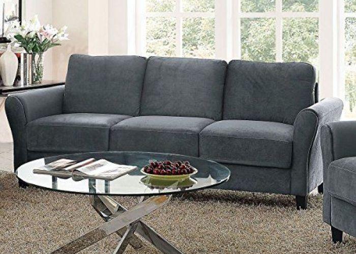 Pearington coffeen dark grey microfiber sofa living room and rooms also
