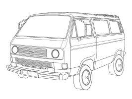 VW T3 Skizze   Bulli   Pinterest   Skizzen, Unnützes ...