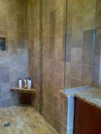 Shower tile vertical brick set design by Rowan Childs of ...